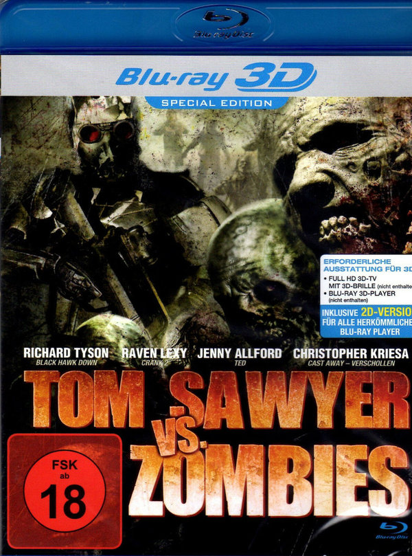 3D-Blu-ray Disc -- Tom Sawyer vs. Zombies -- Walking Dead , Special Edition NEU