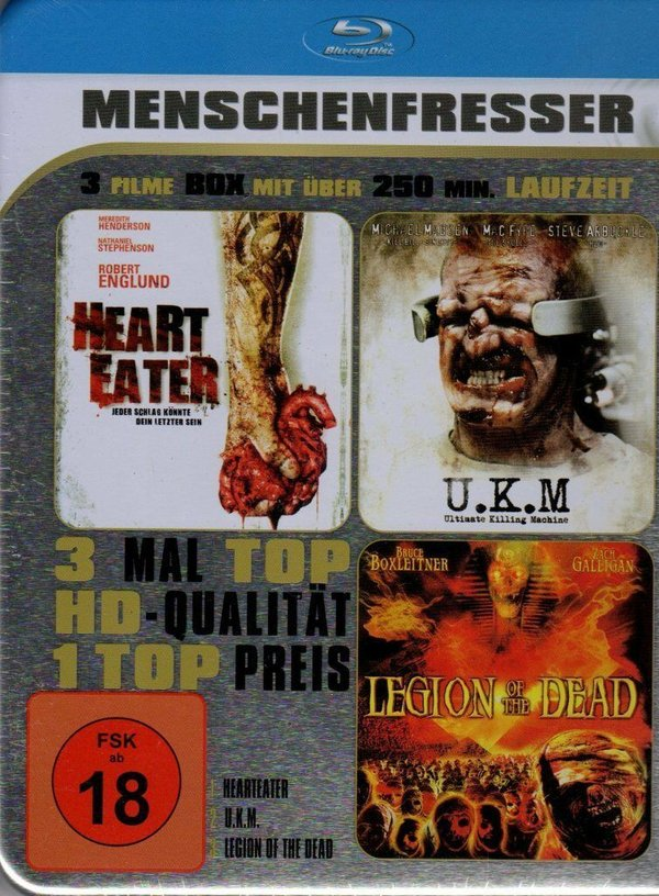 Blu-ray Box - Menschenfresser - Heart Eater , U.K.M. , Legion of the Dead , NEU